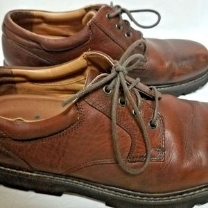 Dockers Mens 11.5 Brown Leather Shoes Lace Up